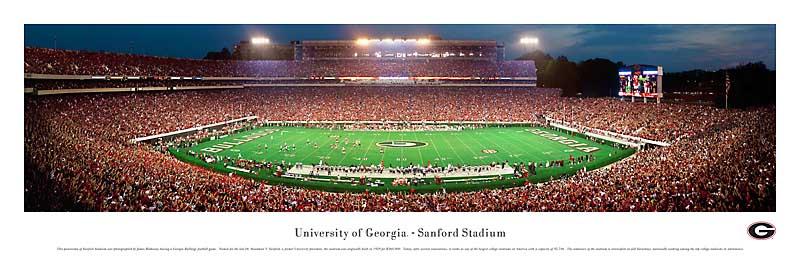 de51ad306c2 University of Georgia - Football Bulldogs - Sanford Stadium Panoramic  Picture. View larger image